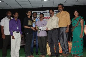 News Photo - Nihal Manjunath getting his first prize